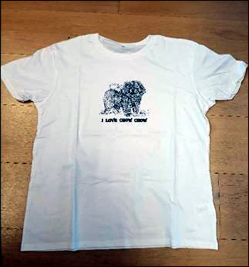 t-shirt mercatino solidale Chow Chow